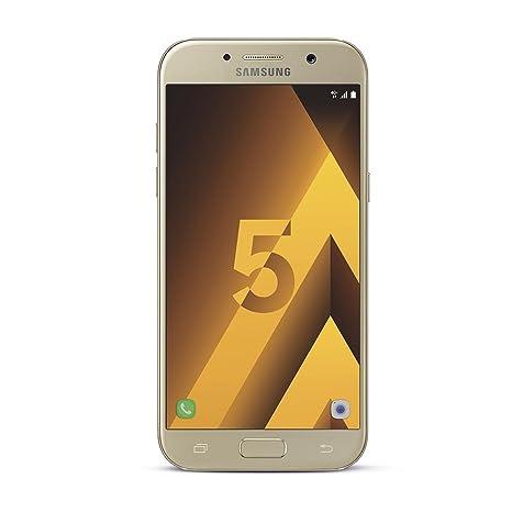 Samsung Galaxy A5 2017 Smartphone portable débloqué 4G (Ecran: 5,2 pouces - 32 Go - Nano-SIM - Android 6.0) Or (Carte SIM européenne uniquement)