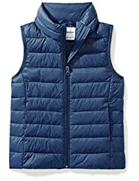 Amazon Essentials girls Water-Resistant Packable Puffer Vest