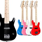 WINZZ 30 Inches Real Kids Electric Guitar with Beginner Kit, Black