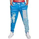 "MITIAO Men's Training Pant ""The Power"" USA Flag Pattern Sport Jogging Sweatpants"