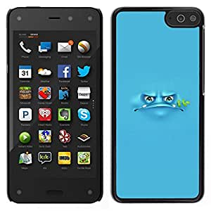 Caucho caso de Shell duro de la cubierta de accesorios de protección BY RAYDREAMMM - Amazon Fire Phone - Blue Frog Cartoon Grumpy Monster