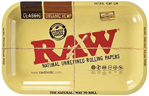 Raw Metal Rolling Tray Small 11 x 7 Inch
