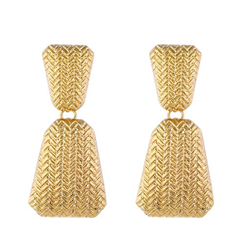 - Golden/Silver Raised Design Statement Earrings