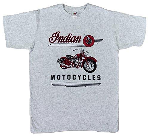 """T-Shirt """"Indian Motorcycles"""" mit Motorrad-Motiv, Größe XXL (Brustumfang 119,4 bis 124,5cm), weitere Größen separat erhältlich"""