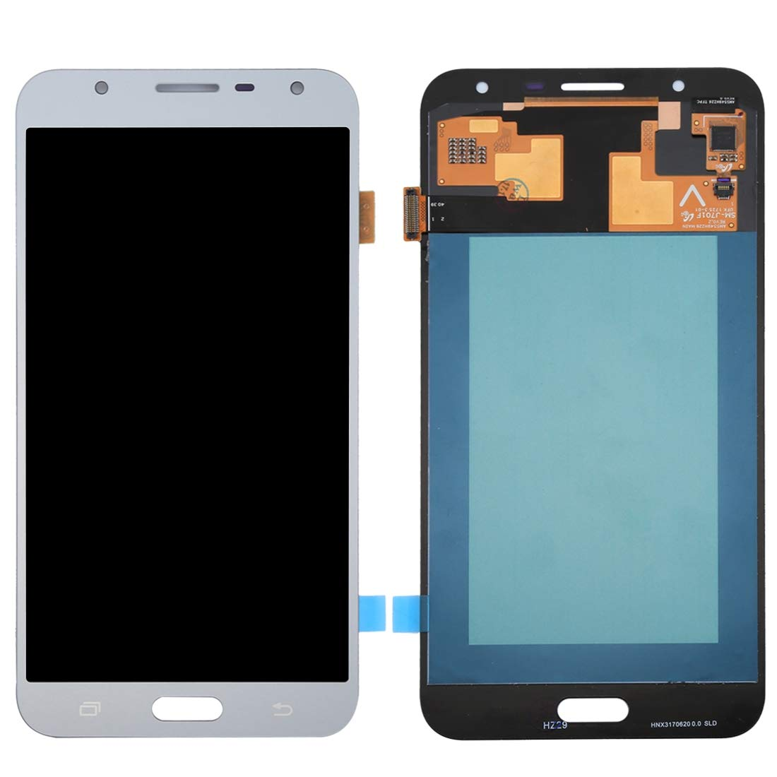 WANGYING Wangying Orignal LCD Display + Touch Panel for Galaxy J7 Neo, J701F/DS, J701M (Black) (Color : Silver)