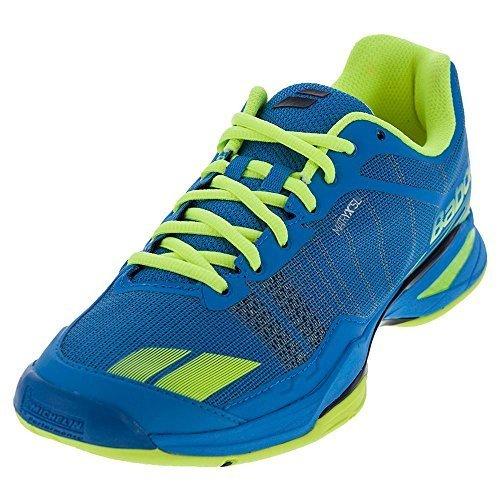 Babolat Men's Jet Team All Court Tennis Shoe, Blue/Yellow (11.0) (Babolat Tennis Shoes)