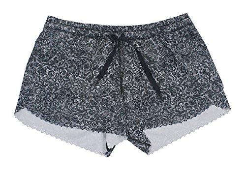 Lululemon Mini Cinder Lace White Black Hit It - Lululemon White Shorts