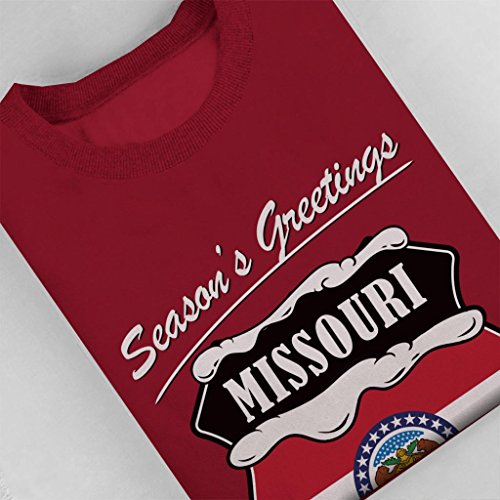 Seasons Seasons Sweatshirt Sweatshirt Sweatshirt Missouri Coto7 Women's Cherry Red Greetings R68d1qw1z