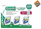 Sunstar 6505A Gum Soft-Picks Advanced (Pack of 270), 5 Pack