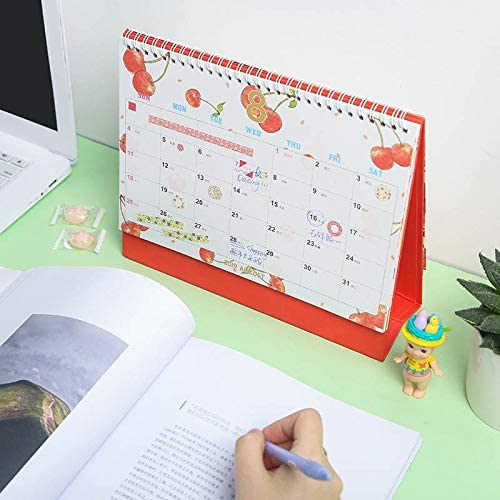 Tischkalender Kalendarien 2020 Watermelon Lemon Fresh Fruit Series Kalender DIY Tischkalender Tagesterminplaner 2019,07~2020,12 (Color : Strawberry)