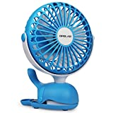 OPOLAR Rechargeable Clip on Fan, USB or Battery Operated Small...