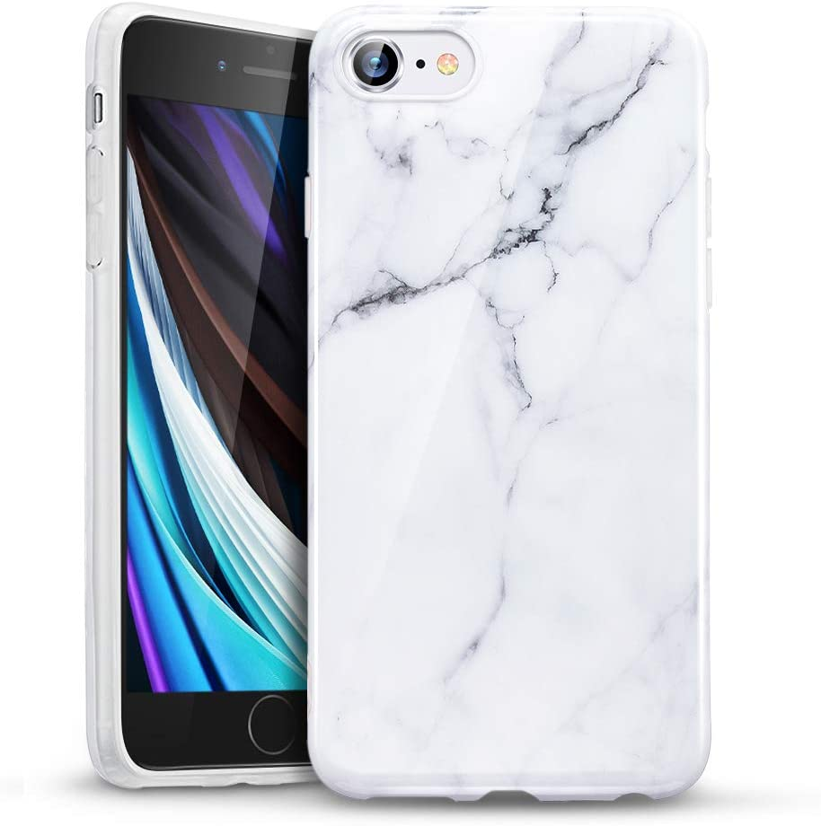 Amazon Com Esr Marble Case Compatible With Iphone Se 2020 Case Iphone 8 Case Iphone 7 Case Slim Soft Flexible Tpu Marble Pattern Cover For New Iphone Se 2 2020 Iphone 8 7 Case 2017 2016 White Sierra