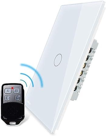 EU WiFi Interruptor de pantalla t/áctil para LED regulable APP Control remoto 2-Way AC 100-250V Compatible con Alexa White Regulador inteligente Dimmer Google