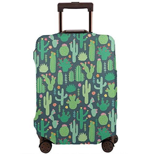 Travel Luggage Protective Covers Cactus Elastic Zipper Thickened Resistant Scratch Dust Proof Washable Suitcase Cover ()