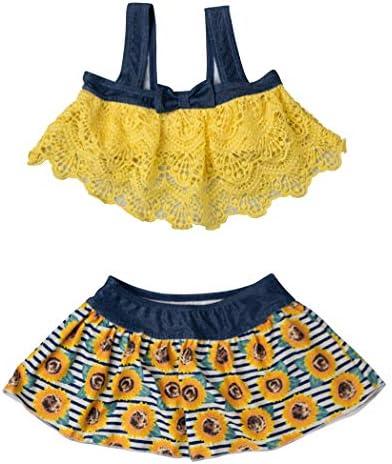 Teddy 수영복 아이 여자 키즈 여 아 독립 상판 스커트 2 점 세트 주름 리본 일체형 반바지 kids343-C / Teddy Swimsuit Kids Women`s Kids Girls` Separate Top Skirt 2 Pieces Set Ruffle Ribbon Integrated Shorts Kids343-C