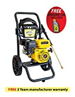 WASPPER - Premium - 2100 to 3100 PSI - 2.3 to 2.8 GPM - Gas Powered Cold Water High Pressure Power Washer Gasoline - Easy Start - Axial Pump - Small Light Durable Frame