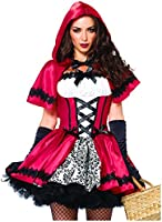 Leg Avenue Women's 2 Piece Gothic Red Riding Hood