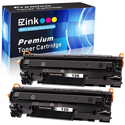 E-Z Ink (TM) Compatible Toner Cartridge Replacement for Canon 128 CRG 128 3500B001AA to use with ImageClass D530 D550 MF4570dw MF4770n MF4890dw MF4420n MF4450, FaxPhone L100 L190 (Black, 2 Pack)