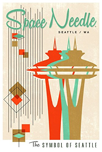 The Space Needle – Simple Block Color – Mid Century Modern Graphic Design 51MzcN8XJCL