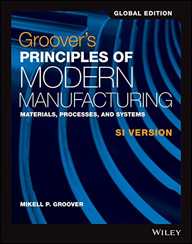 (Groover's Principles of Modern Manufacturing: Materials, Processes, and Systems)