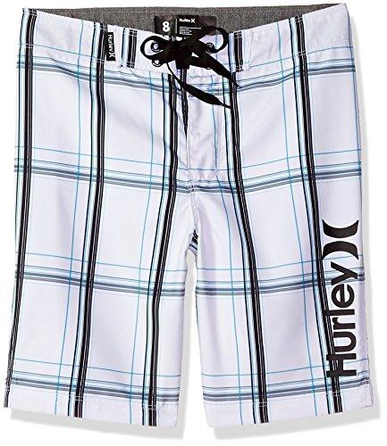 Hurley Big Boys' Puerto Rico Boardshort, White, 10 (Hurley Shorts White)