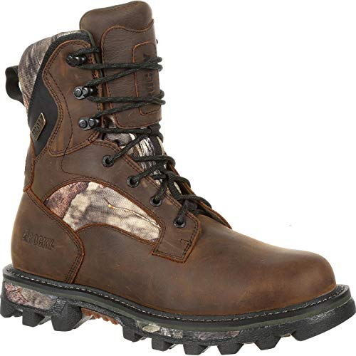 Rocky Men's 8'' Bearclaw FX 800g Insulated Waterproof Outdoor Boots, Brown, 11.5 - Bear Rocky Claw