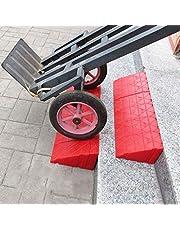 Height 16cm Plastic Curb Ramps - Lightweight 1-6 PCS Heavy Duty Plastic Threshold Ramp Kit Set for Driveway, Sidewalk, Car, Scooter, Bike, Motorcycle, Wheelchair