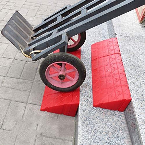 WXJ Height 16cm Plastic Curb Ramps – Lightweight 1-6 PCS Heavy Duty Plastic Threshold Ramp Kit Set for Driveway…