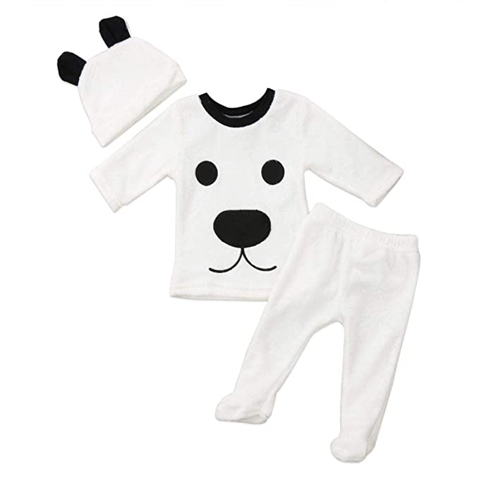 Fossrn Conjunto Ropa Bebe Niño Otoño Invierno Recie Nacido Niña Dibujos Animados Bear Camisetas de Manga