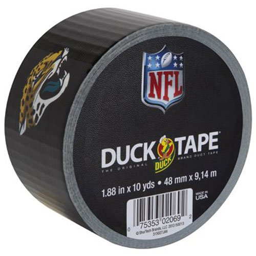 duck-brand-282370-jacksonville-jaguars-nfl-team-logo-duct-tape-188-inch-by-10-yards-single-roll