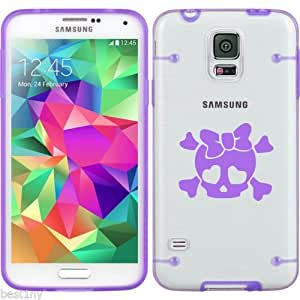 Purple Samsung Galaxy Ultra Thin Transparent Clear Hard TPU Case Cover Heart Skull Bow (Purple for S3)