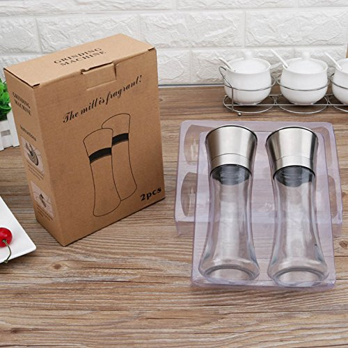 Stainless Steel Pepper Glass Grinder – Set of - Paramus Nj Park
