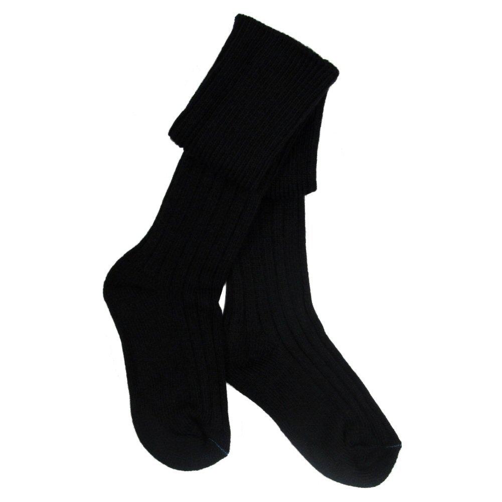 Boys New Wool Mix Kilt Hose/Socks In Black- Size 5-9 HJ Hall HJ-Sock_899_Boy_Black_5-9