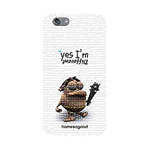 HomeSoGood Funny Stone Man White 3D Mobile Case For iPhone 6 (Back Cover)