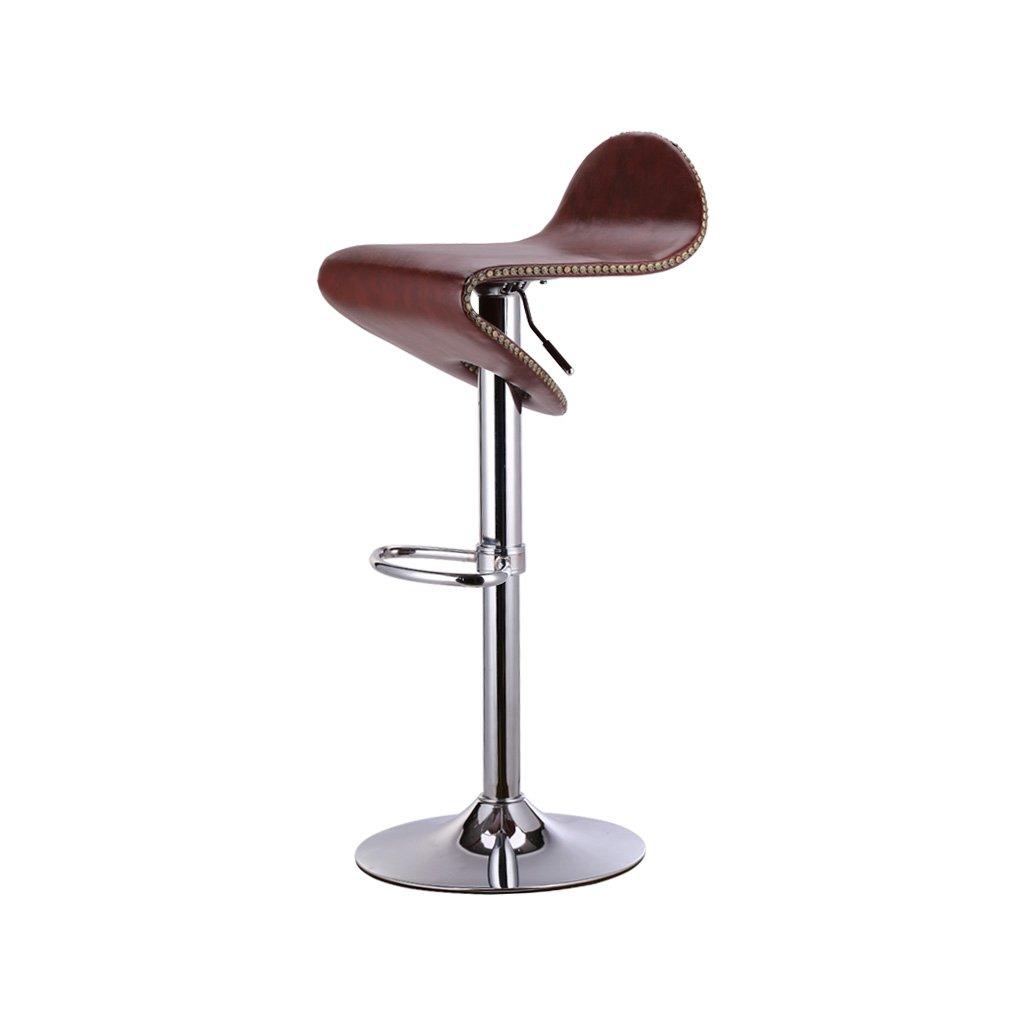 スツールモダンミニマリストパーソナリティバー回転チェアリフト可動椅子2色のクッションファッションメタルバースツール (サイズ さいず : B) B07CH2Y59R B B