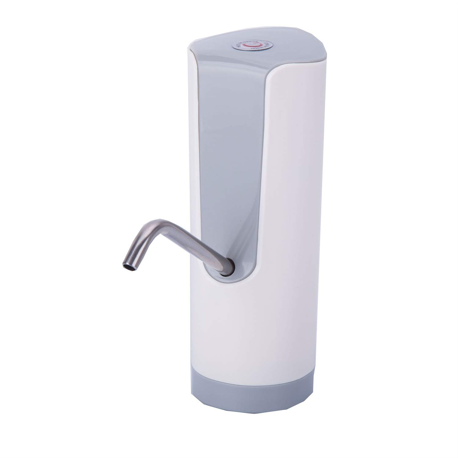 JS-Bonita-28 Intelligent Electric Water Pumping Dispenser Portable Household Stainless Steel 28Oz (Color : White)