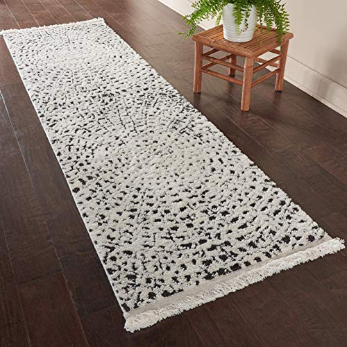 Rivet Contemporary Abstract Runner Hallway Rug, 7' 6