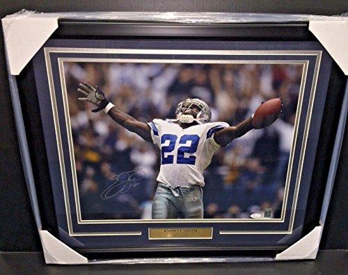 Emmitt Smith Memorabilia (Emmitt Smith Signed Photograph - 16x20 Framed Psa Dna Coa - JSA Certified - Autographed NFL Photos)