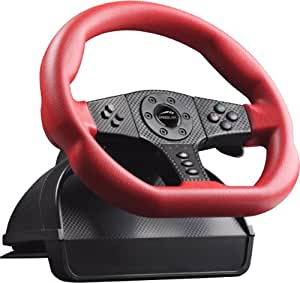 Speedlink Carbon GT - Volante para PS3 o PC, color rojo