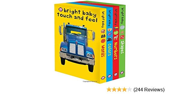 and Shapes Colors Bright Baby Touch /& Feel Slipcase 2: Includes Words Numbers
