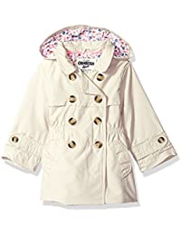 Girls' Hooded Trench Coat,