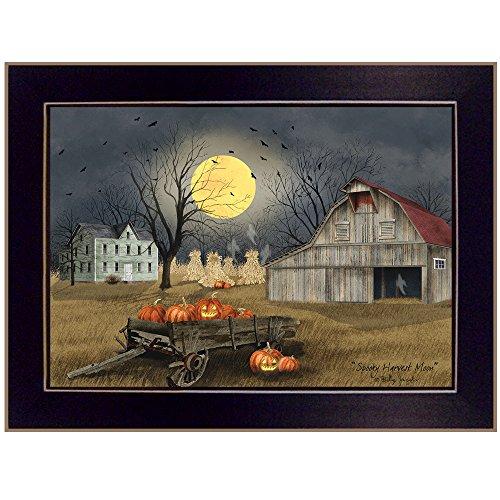 Trendy Spooky Harvest Moon By Billy Jacobs - Pumpkin wall decor