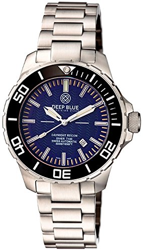 Deep Blue Daynight Recon tritio T-100 automático reloj suizo ETA 2824 - 2 Mvt esfera de color azul: Amazon.es: Relojes