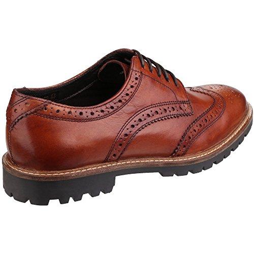 Base London Hombre Zapatos de la zanja, Marrón Tan