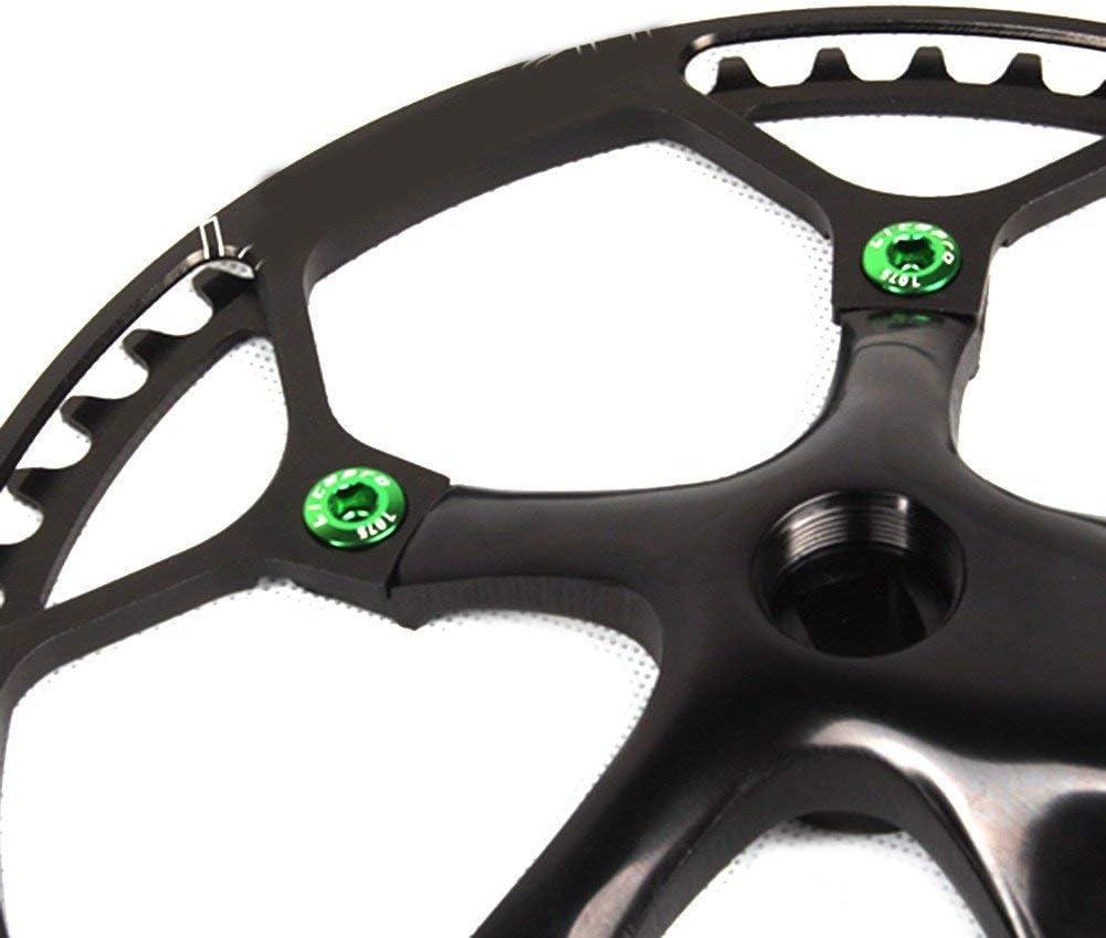 WINGKE 5PCS Single Chainring Bolts 7075 Aluminum Alloy M8 Crankset Single Chainwheel Bolts /& Nuts Disc Screws for Road Bike,Mountain Bike,