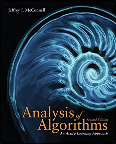 Analysis Of Algorithms Jeffrey McConnell 9780763707828