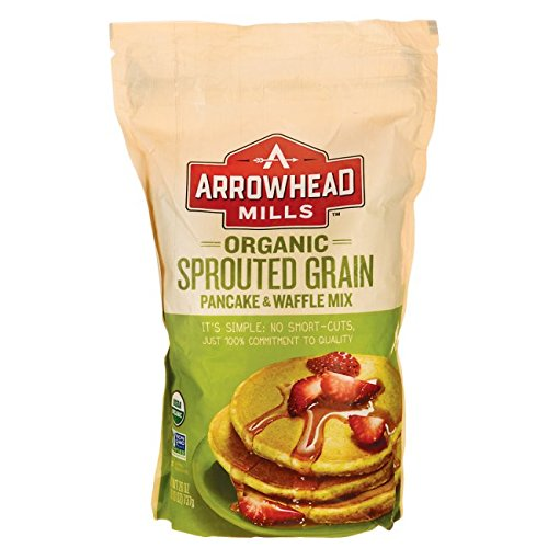 Arrowhead Mills Organic Sprouted Grain Pancake and Waffle Mix, 26 oz. Bag -