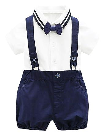 GEMVIE Traje de Camiseta Pantalones Babero para Niños Bebé ...