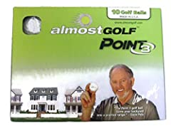 The patented solid core with internal pressure design allows the Point3 to travel one third the distance of a real golf ball, so golfers can turn their backyards into a true driving range experience for real results out on the course.