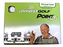 Almost Golf Ball Pack, 10 Balls Per Package - Yellow